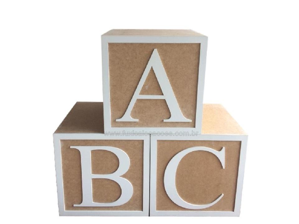 Aluguel cubos ABC nude 30 x 30 - Fuxica Locações de Kits e